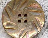Vintage sculpté ormeau de Rainbow Shell bouton manteau 1-1/16 pouce 27mm Pinwheel