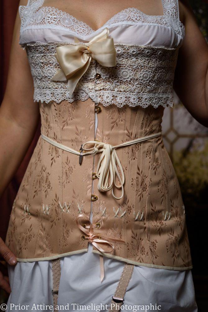 ef81bd1f7f Edwardian WWI corset size size 12-14
