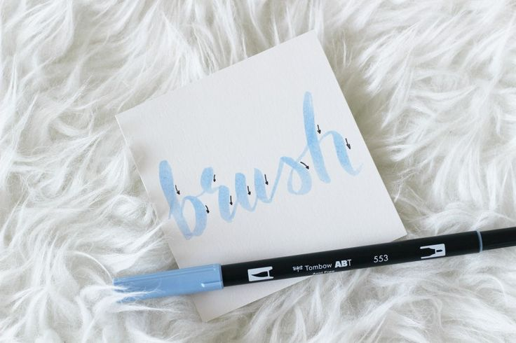 brush lettering   tombow dual brush pens / -kynät