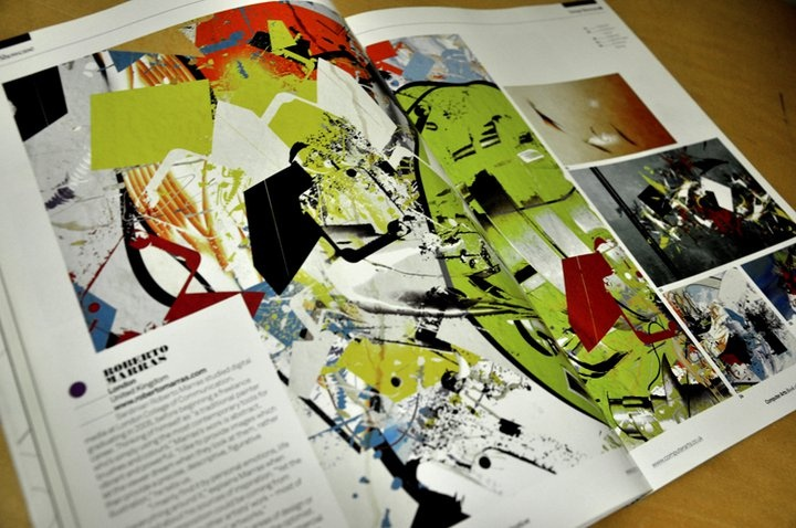 Client: Future PLC  Book: Computer arts, The book of inspiration  Position: featured artist