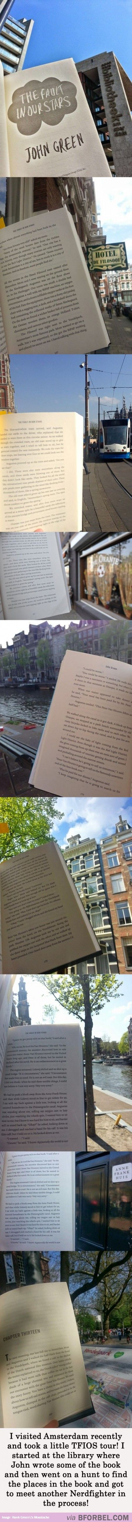 Travelling With John Green In Amsterdam…this is actually the coolest thing ever