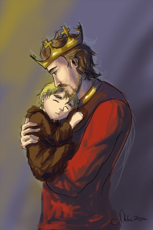 Young Arthur and King Henry V - Art by le-reine-rouge.tumblr.com