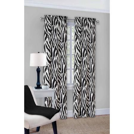 Hauptstützen Zebra Fashion Window Curtain Panels, 2er-Set – Walmart.com   – Marisa