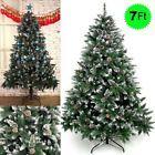 ☺§ NEW #Snow Flocked Christmas Tree #7 Ft Green #Xmas Tree Pine Cone Decorat... On Sale http://ebay.to/2zedwXV
