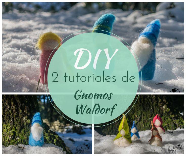 Gnomos waldorf, 2 maneras fáciles de confeccionarlos, con vídeo tutorial y patrón descargable gratis