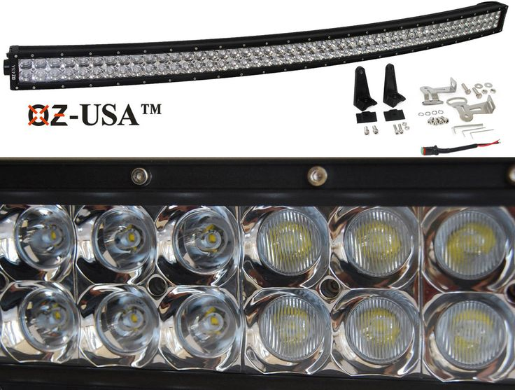 """3D curved 288w 50"""" Light bar LED spot flood combo Phillips off road 4x4 4wd race truck baja tested - OZ"""