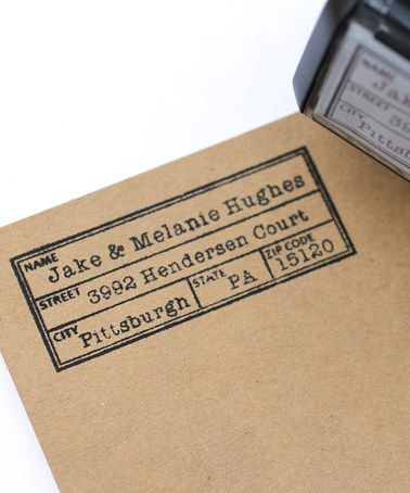 Take a look at this Vintage Label Personalized Self-Inking Stamp by 2712 Designs on #zulily today!