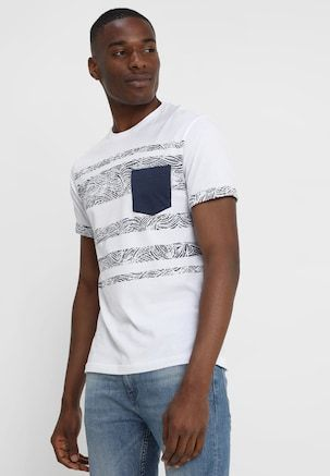 2899d53bebd Print T-shirt - navy/white @ Zalando.co.uk 🛒 in 2019 | Mens tshirts | T  shirt, Blue, Dark blue