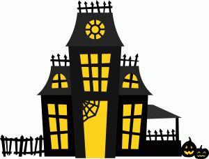 14 best images about blondie 39 s scherenschnitte halloween - Cartoon haunted house pics ...