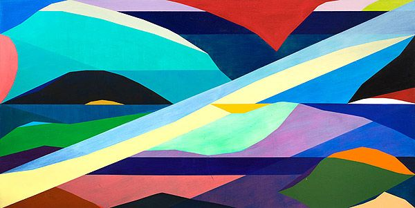 Michael Johnson has won the 2014 Wynne prize with his 'Oceania high low' painting.