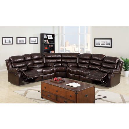 Hollywood Decor Kameno Sectional Sofa Set Featuring multi functional sofa & Loveseat with console $1793