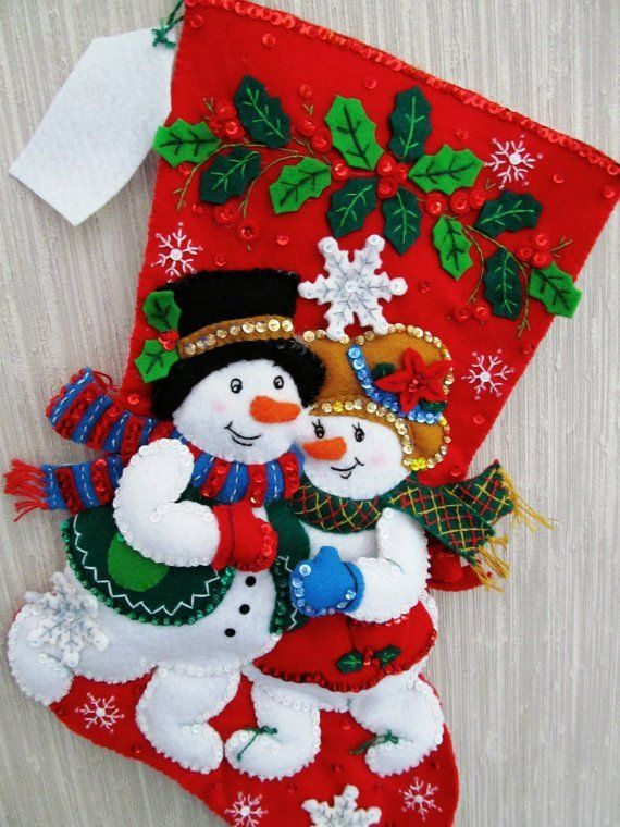 Red Snowman Christmas Stocking - Happy Snowman Christmas Stocking #3D #Christmas #stockings www.loveitsomuch.com