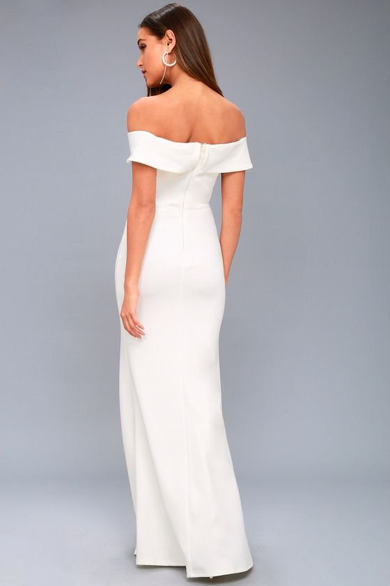 74c7f7689fea Aveline White Off-the-Shoulder Maxi Dress 4