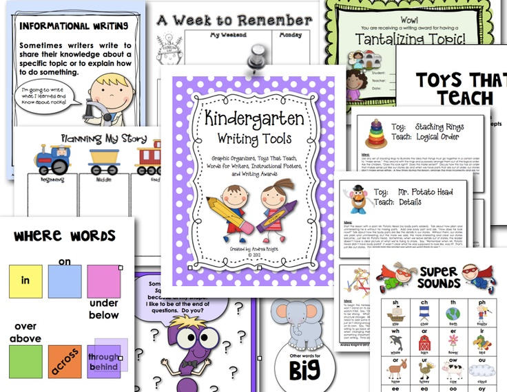 writing lessons for kindergarten Create a profile at our kindergarten writers workshop community by clicking here the guide was called six by six: trait writing with the youngest writers because.