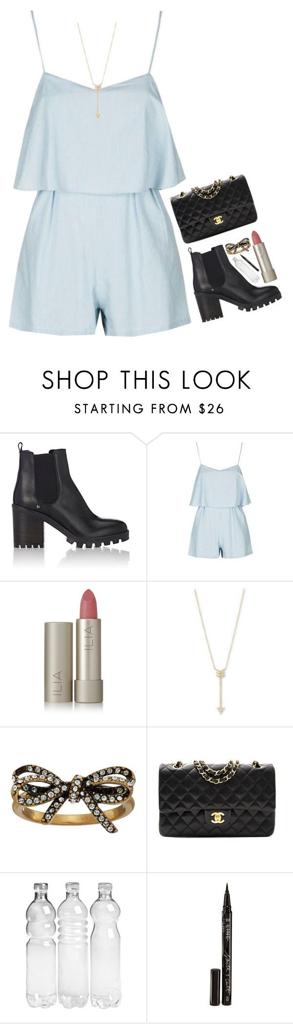 """""""Sassy In Blue"""" by mel2016 ❤ liked on Polyvore featuring Barneys New York, Topshop, Ilia, EF Collection, Marc Jacobs, Chanel and Smith & Cult"""