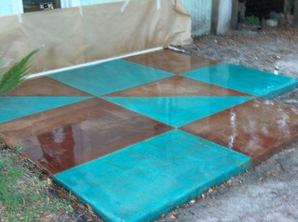 Innovation Blue Stained Concrete Patio Best Flooring Images On Pinterest Ideas Homes And Design Inspiration