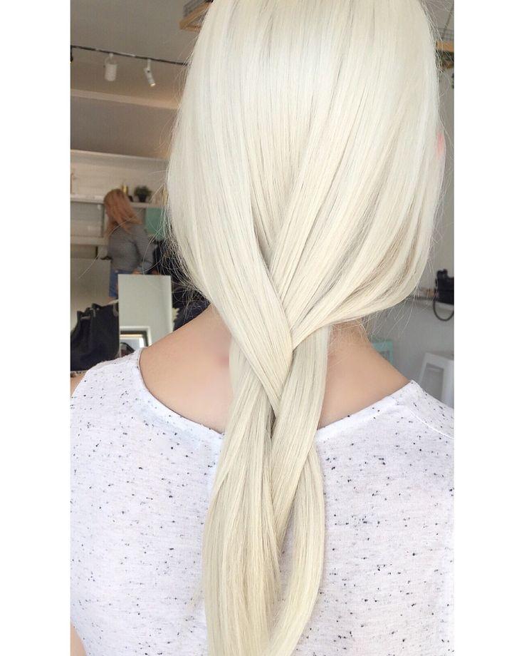 creamy blonde .
