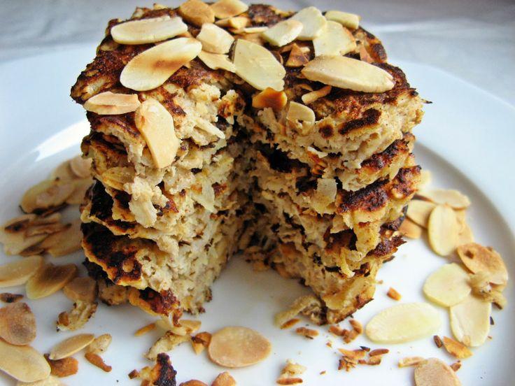 Feel Eat!: Placki owsiane z jabłkiem i cynamonem bez cukru i mąki