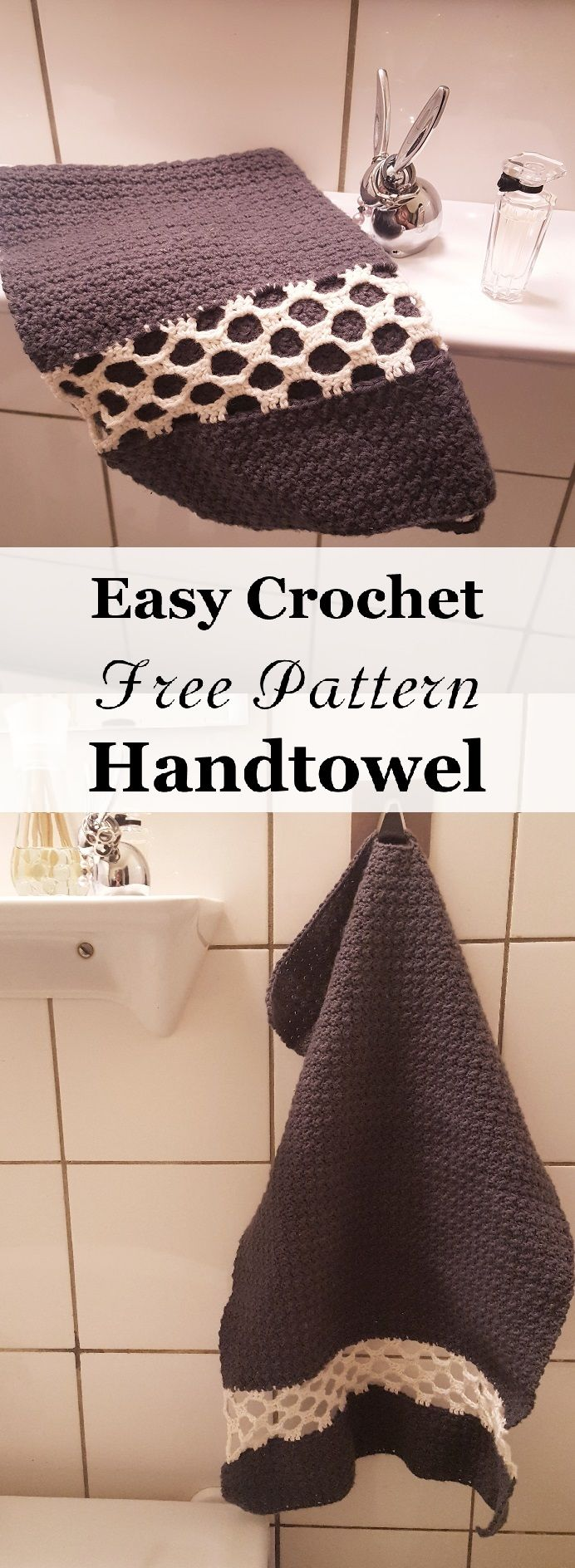 [FREE PATTERN] Lovely crochet handtowel with simple mesh.