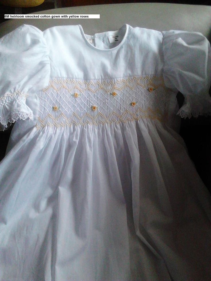 handmade to order cotton smocked gowns 0427820744