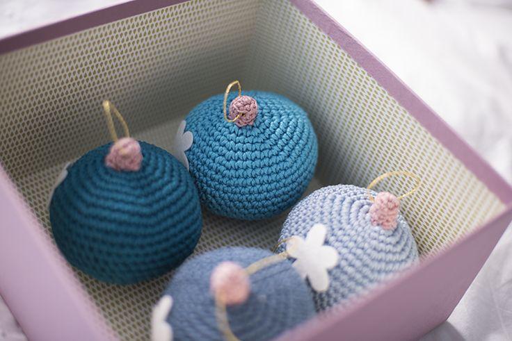 El Gallo Bermejo: Bola de navidad (patrón gratis) - Xmas ball