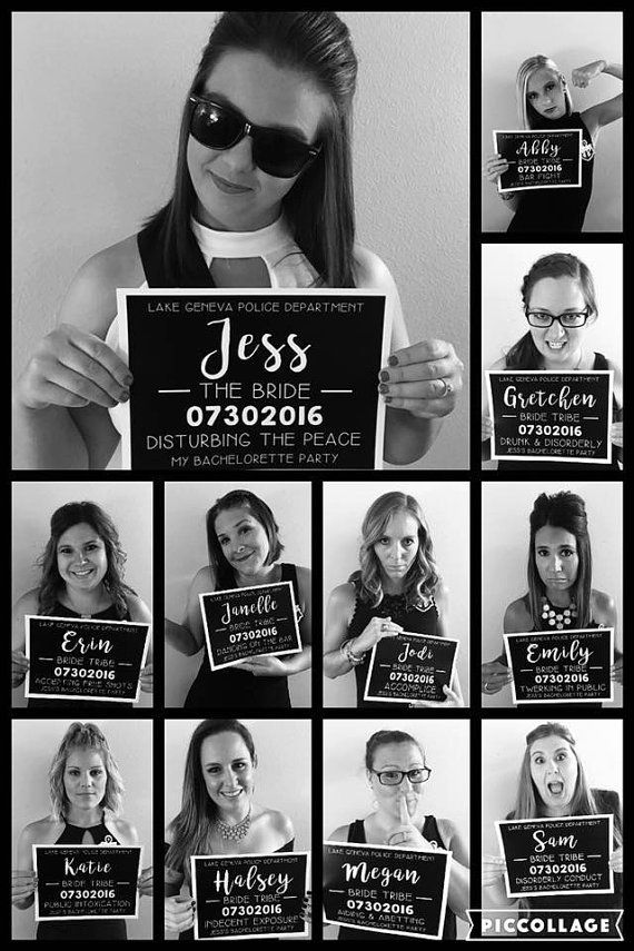 Printable Bachelorette Party Mugshot Jail Signs