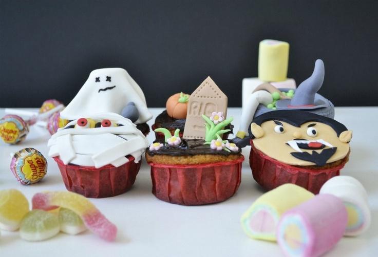 CocinandoconCatMan.com | Recetas de cocina con fotos. Recetas Paso a Paso. Gastronomía: Muffins de Dulce de Leche disfrazados para Halloween