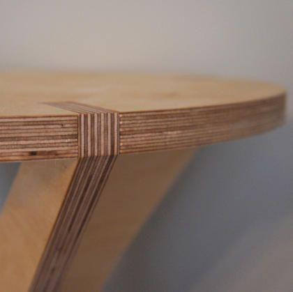 side table - detail - birch plywood furniture - flatpack - nomadic design studio - bespoke - handmade