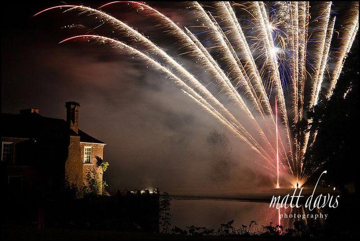 Fireworks at Birtsmorton court wedding venue Worcestershire