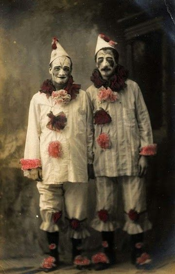 Photographies vintages de Clown pas forcément drôles ~ Le Bouquinovore