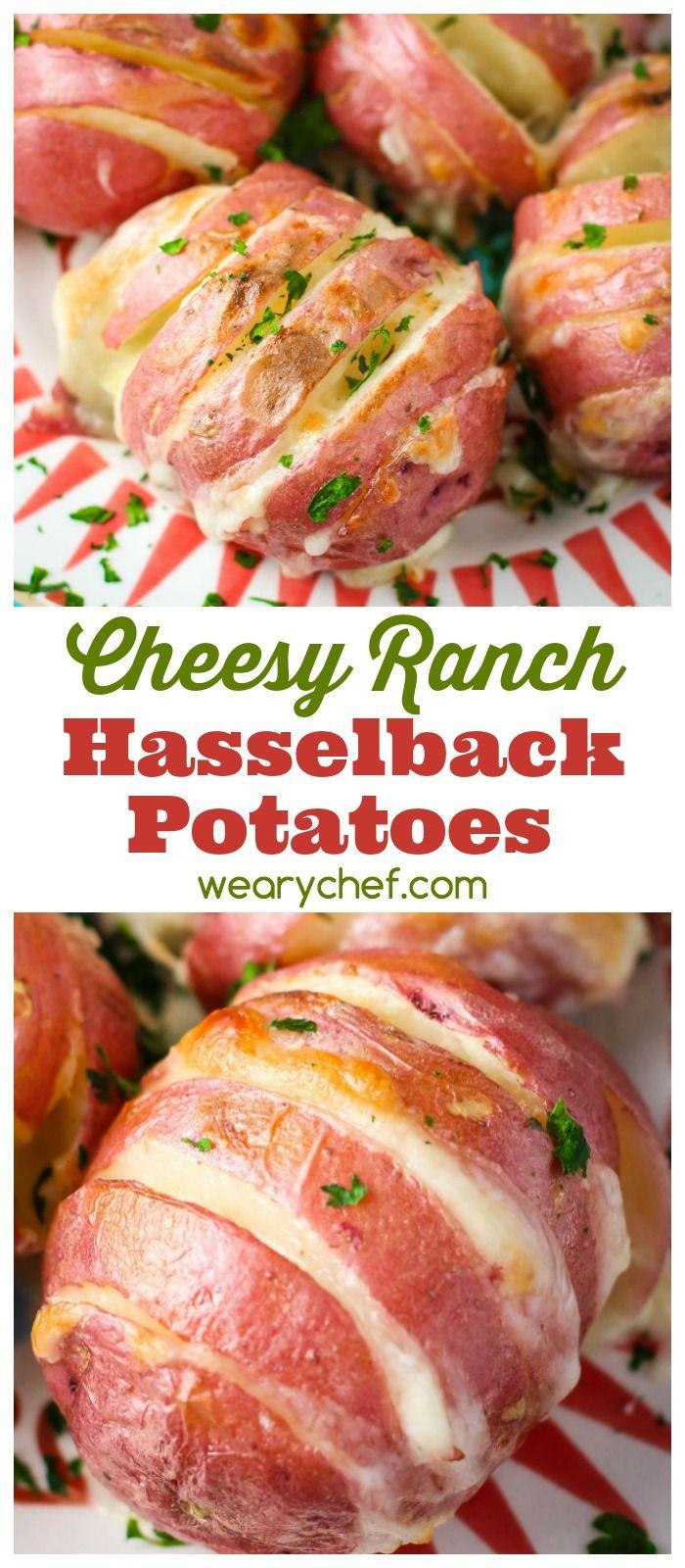 Easy recipes healthy eating ideas hasselback potatoes