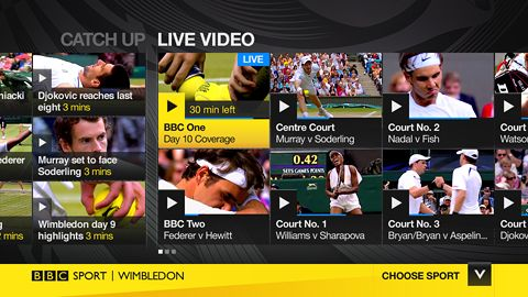 BBC Sport app on Panasonic TVs for Olympics and Wimbledon - Recombu