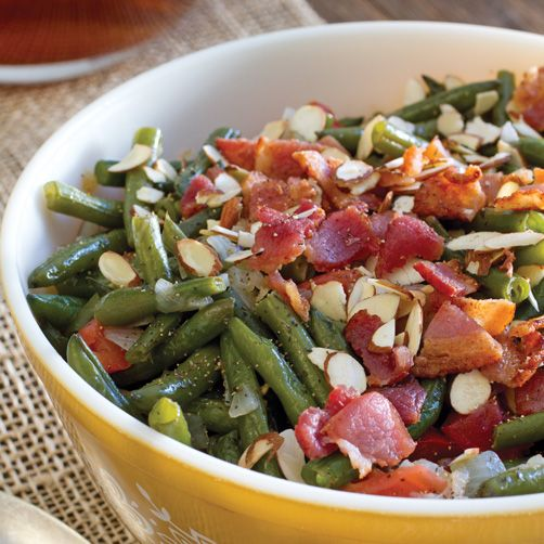 Green Beans with Bacon and Almonds // Taste of the South Magazine