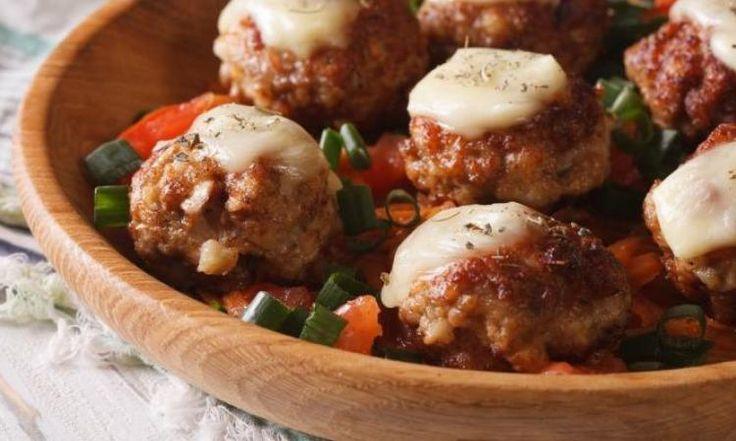 Vos enfants en raffoleront..La boulette au poulet, sauce marinara et parmesan