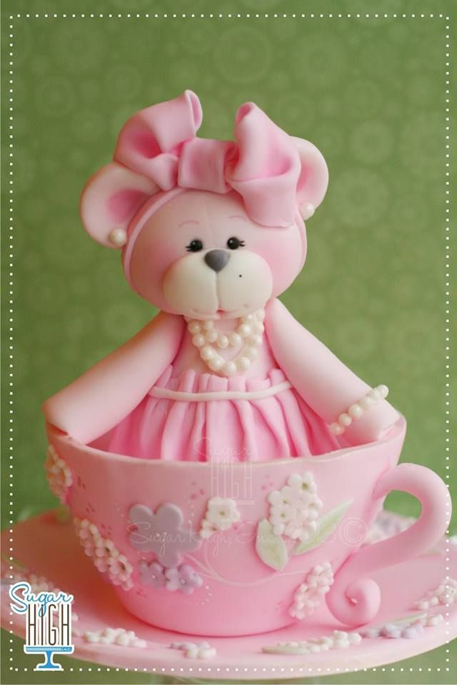 Cutie Bear Cake Topper by Sugar High, Inc.