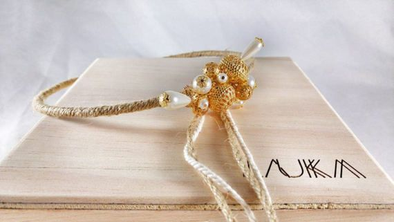 Wedding Crowns - Stefana ''Summer Gold''/ Greek Crowns / Orthodox Greek Wedding Crowns / Στεφανα Γαμου / Greek Tiaras / burlap and cotton