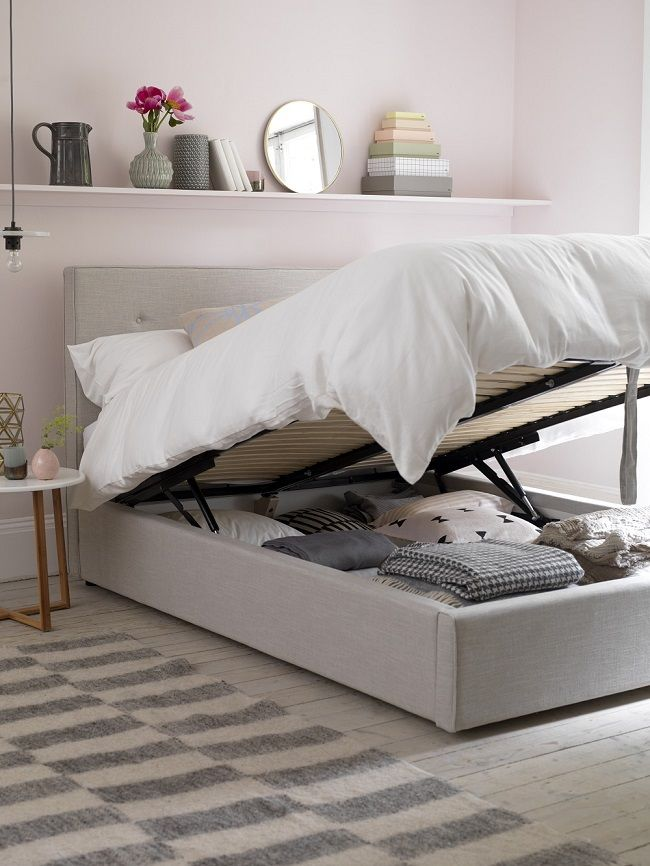 button and sprung poppy ottoman bed