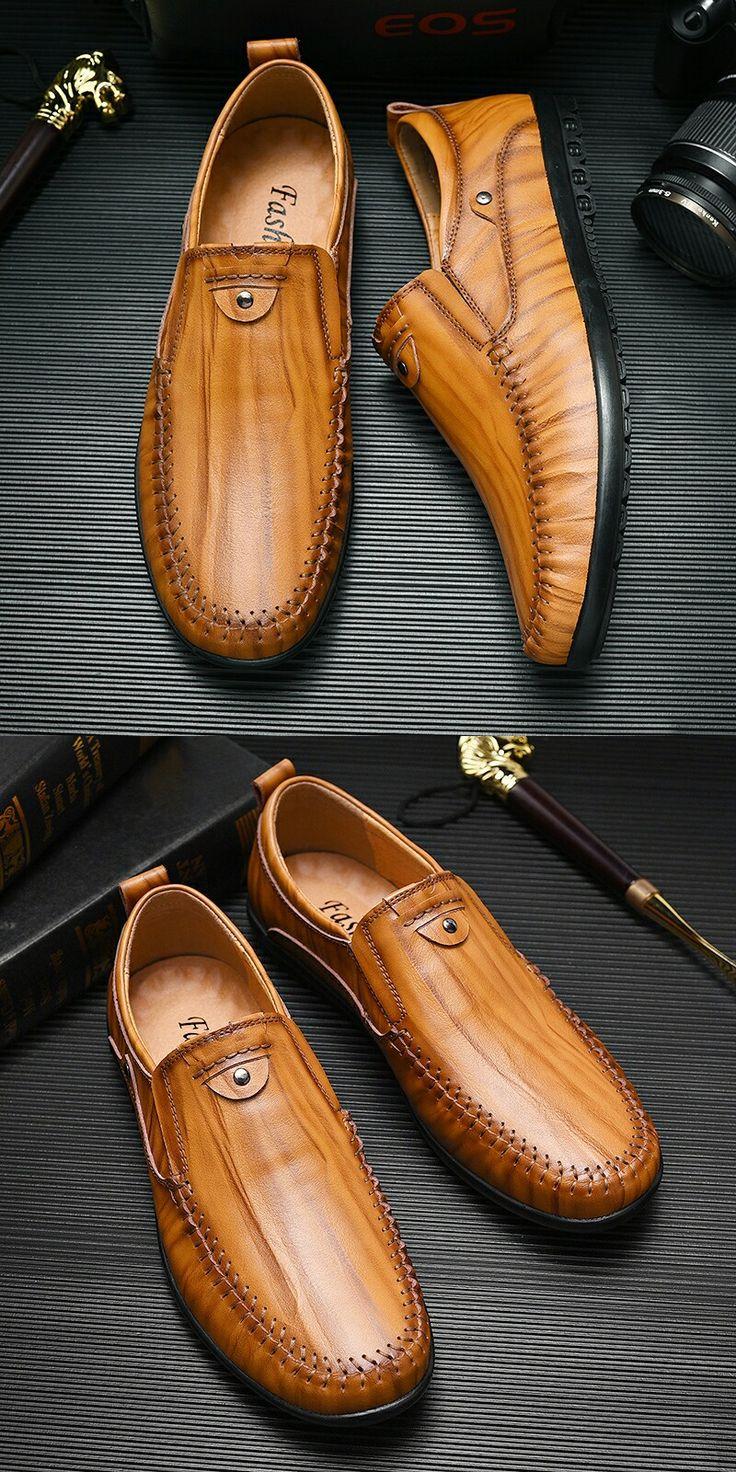 >> comprar aqui << Prelesty Homens Barco Sapato dos homens Flats Sapatos de Couro Outono Inverno Black Brown Casual Loafers Mocassim Lazer Calçado Elegante