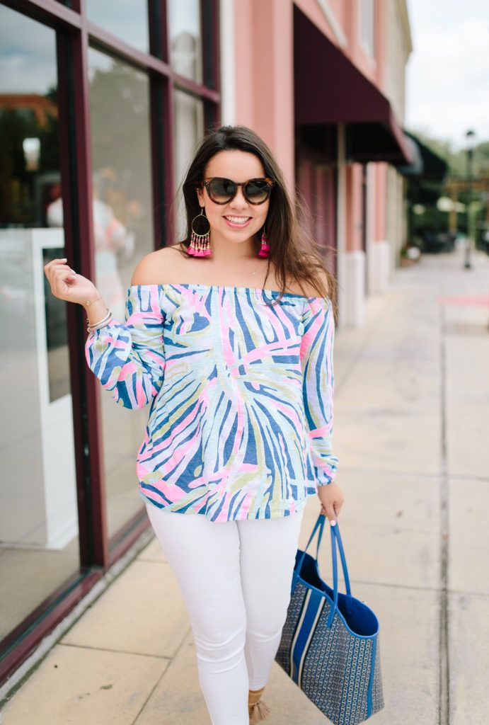b9bd969d6665a0 Lilly Pulitzer off the shoulder Enna knit top