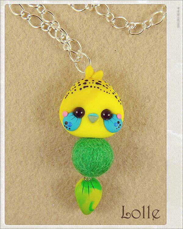 Clay Flurry Parakeet by LolleBijoux.deviantart.com on @deviantART