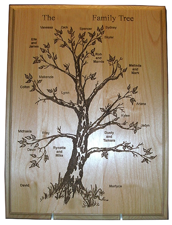 Tree Engraving Painting Ideas
