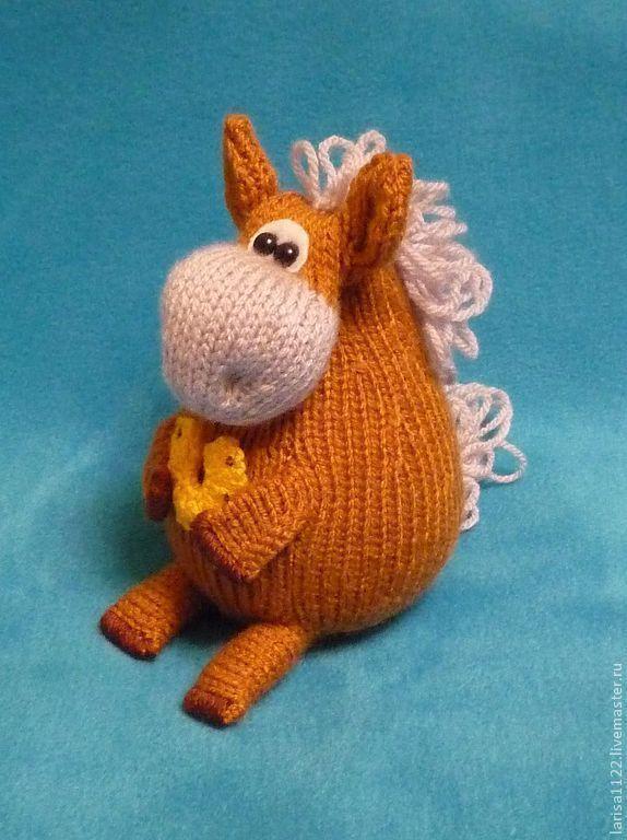 МК Лошадка  игрушки вязаная лошадь