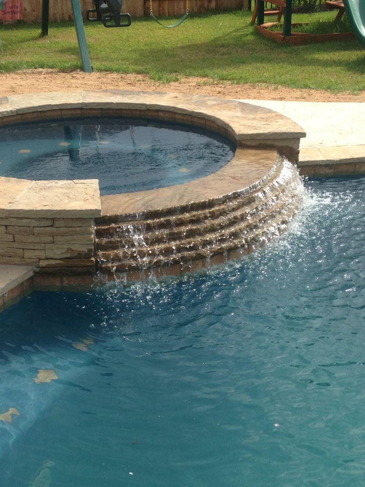 17 best images about spa spillways on pinterest rocks for Stone swimming pool