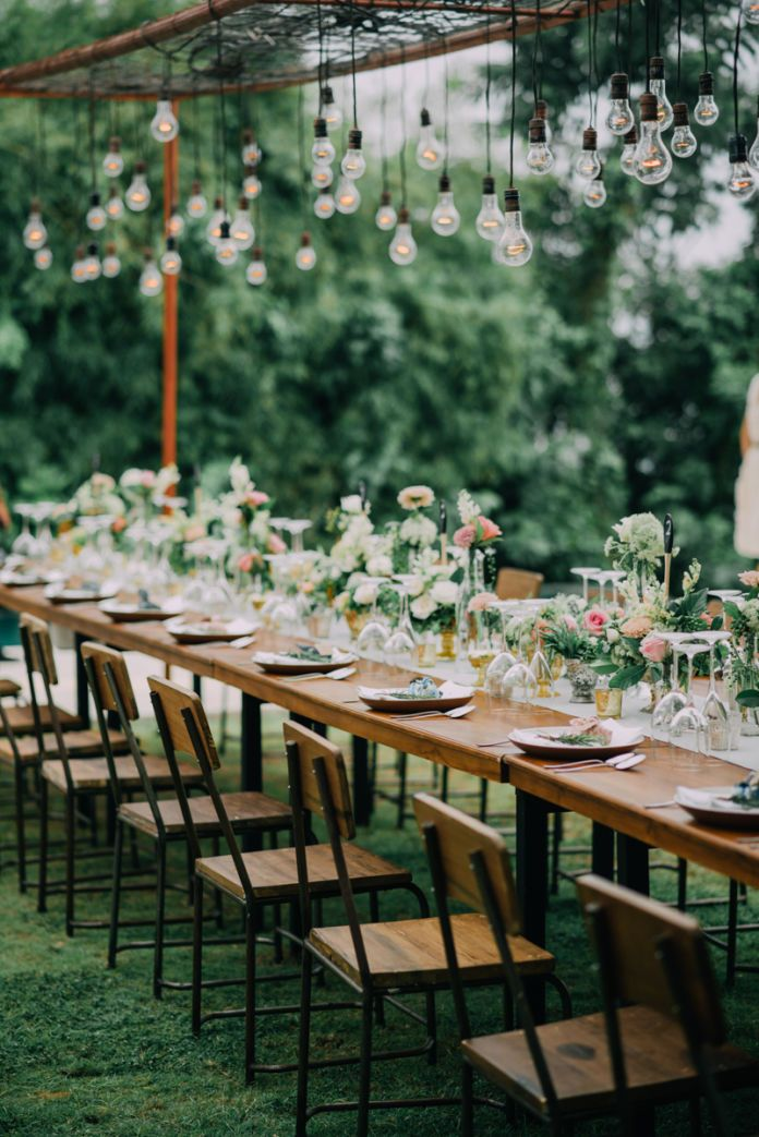 300 best wedding tables images on pinterest wedding tables table decoration for garden wedding party the wedding of nobi debbie by alila hotels junglespirit Gallery