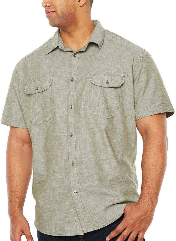 b1f9ee16e167 The Foundry Big   Tall Supply Co. Short Sleeve Button-Front Shirt-Big and  Tall  bigandtall  mensfashion  mensshirts  ad