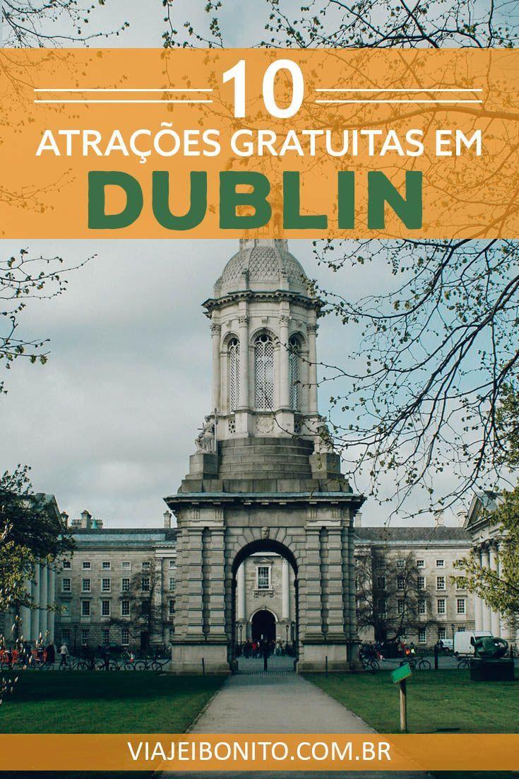 Trinity College, uma das 10 atrações gratuitas em Dublin. Créditos: Wes Eggins Images / Fonte: Flickr
