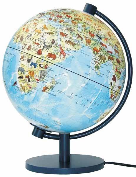 dierenwereldbol te vinden op www.dezwerver.nl. staan ook prachtige grote globes à € 8000,- :)