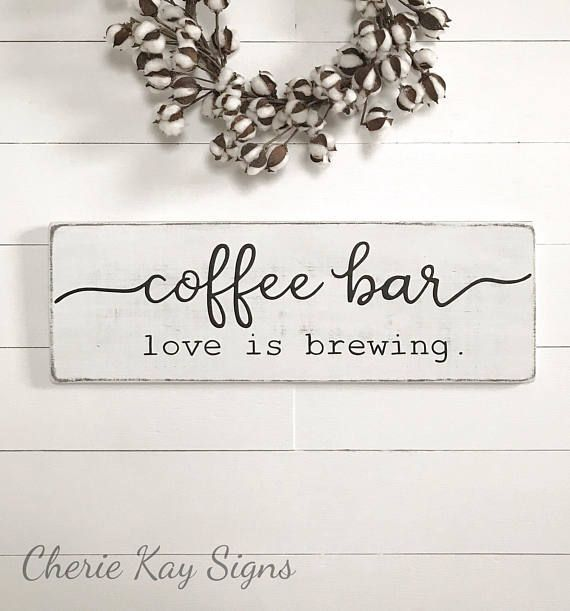 Etsy - Coffee bar sign. This is the one I want. It is so pretty! #ad#coffeebar#sign