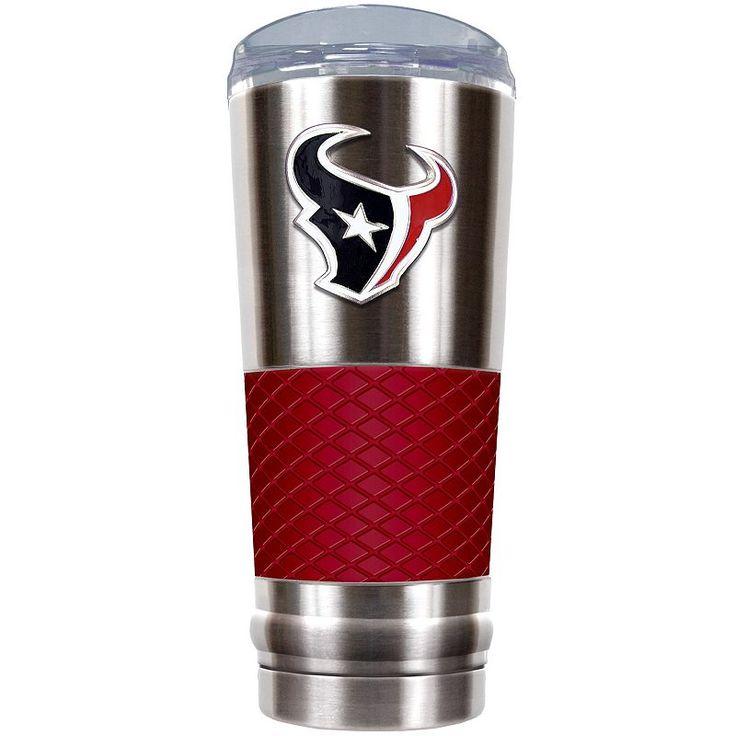 Houston Texans 24-Ounce Draft Stainless Steel Tumbler, Red