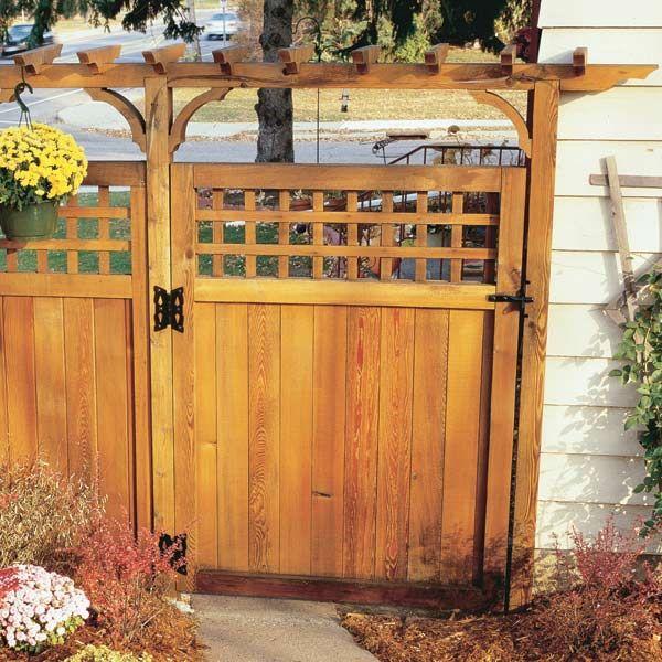 how to renew wooden fences backyard gatesgarden